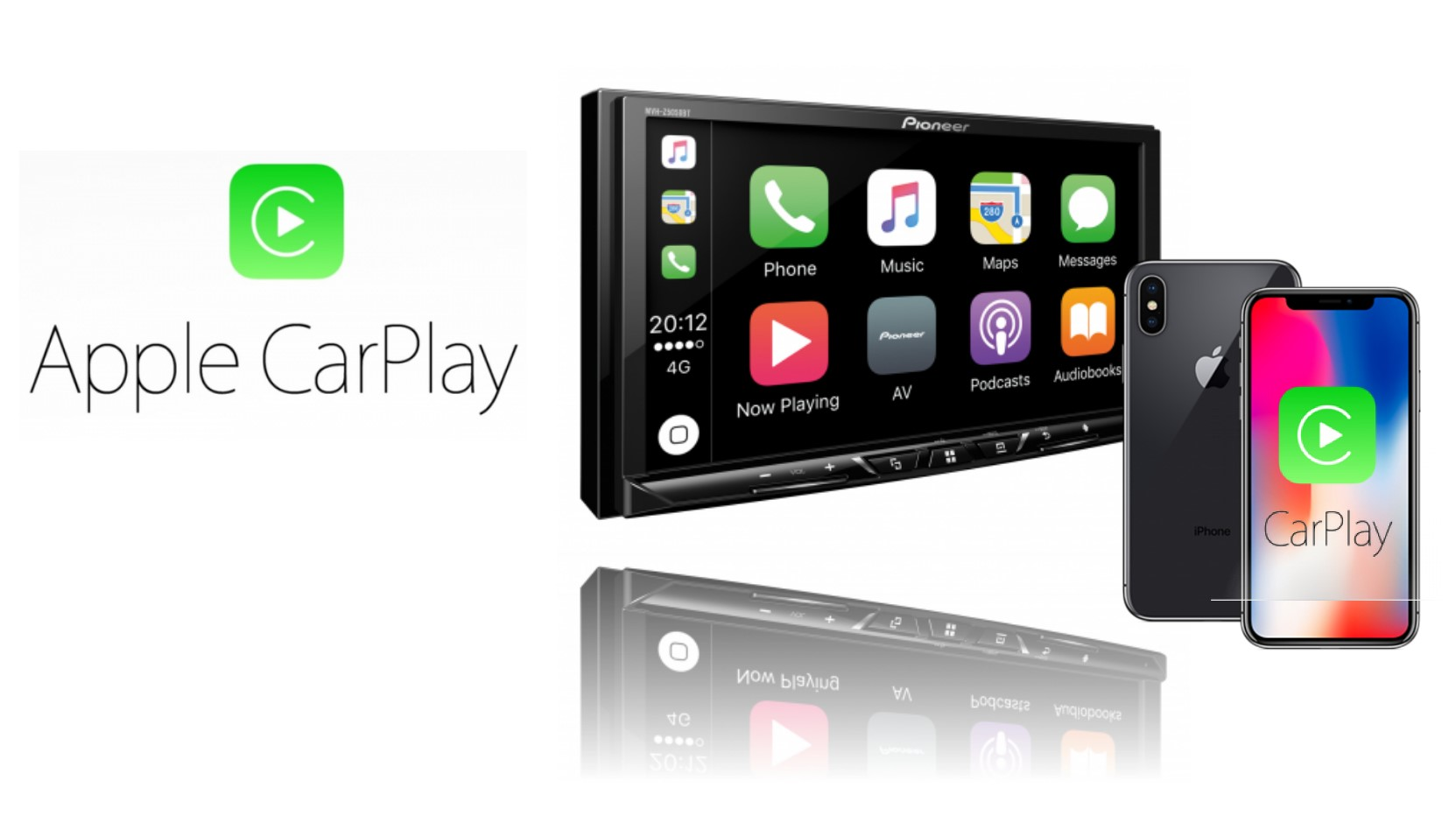 pioneer avh z5050bt touch screen apple carplay android. Black Bedroom Furniture Sets. Home Design Ideas