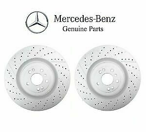 Genuine Mercedes W166 ML63 Pair Set of 2 Front Disc Brake Rotors Vented Drilled